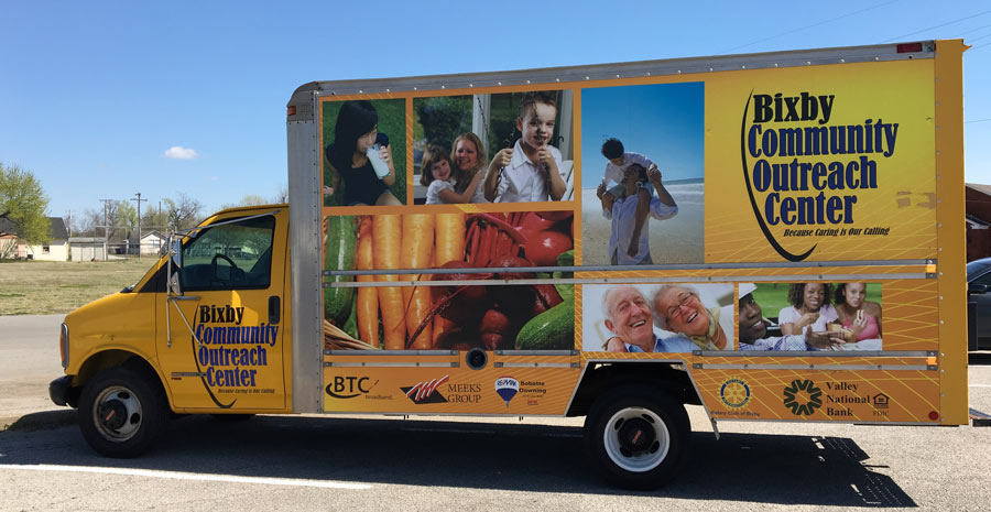 Bixby Outreach Centers Delivery Truck