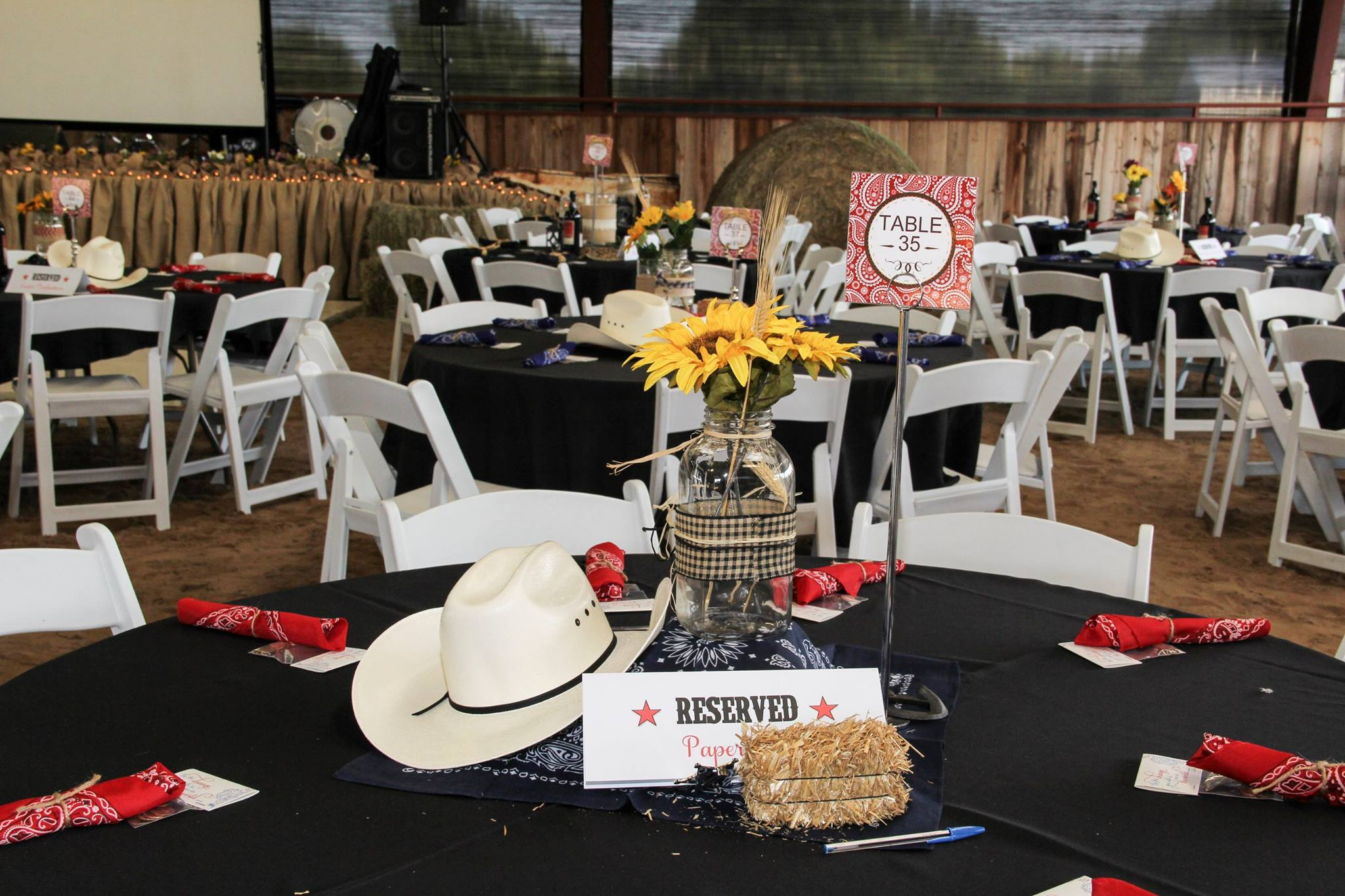 Blue Jeans Ball 2015 Table Decoration