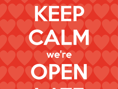 Keep Calm - the BOC is now open late!