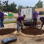 BTC Volunteers redo landscaping at BOC