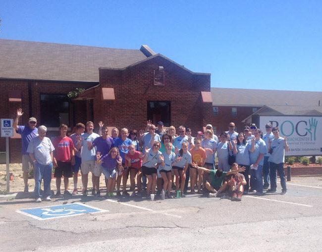 Group of volunteers from Asbury Methodist Church