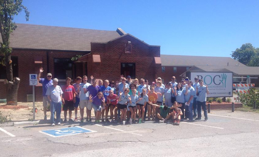 Group of volunteers from Asbury Methodist Church
