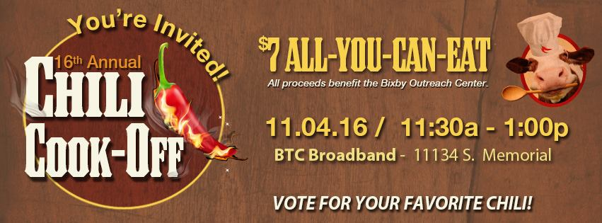 Bixby BTC Chili Cook-off information