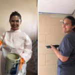Two volunteers from LifeChurch painting a BOC room.