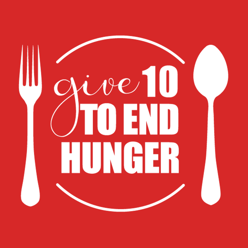 Donate to Give 10 to End Hunger campaign