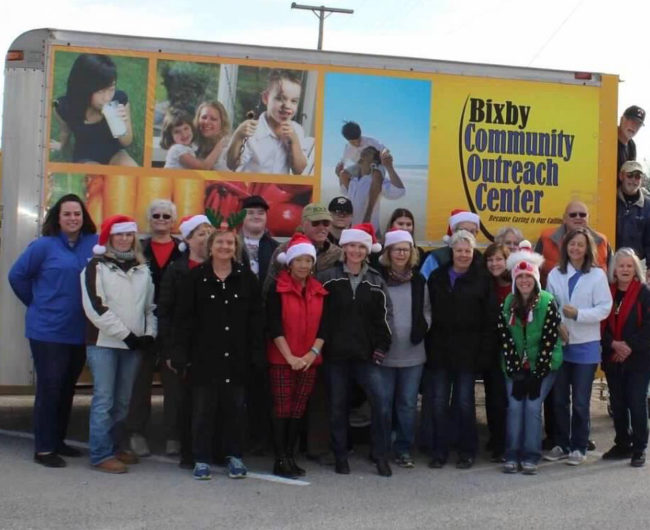 BOC volunteers helping during the 2017 holidays.