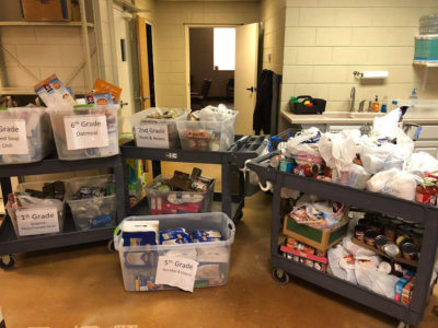 Donations from Bixby Schools