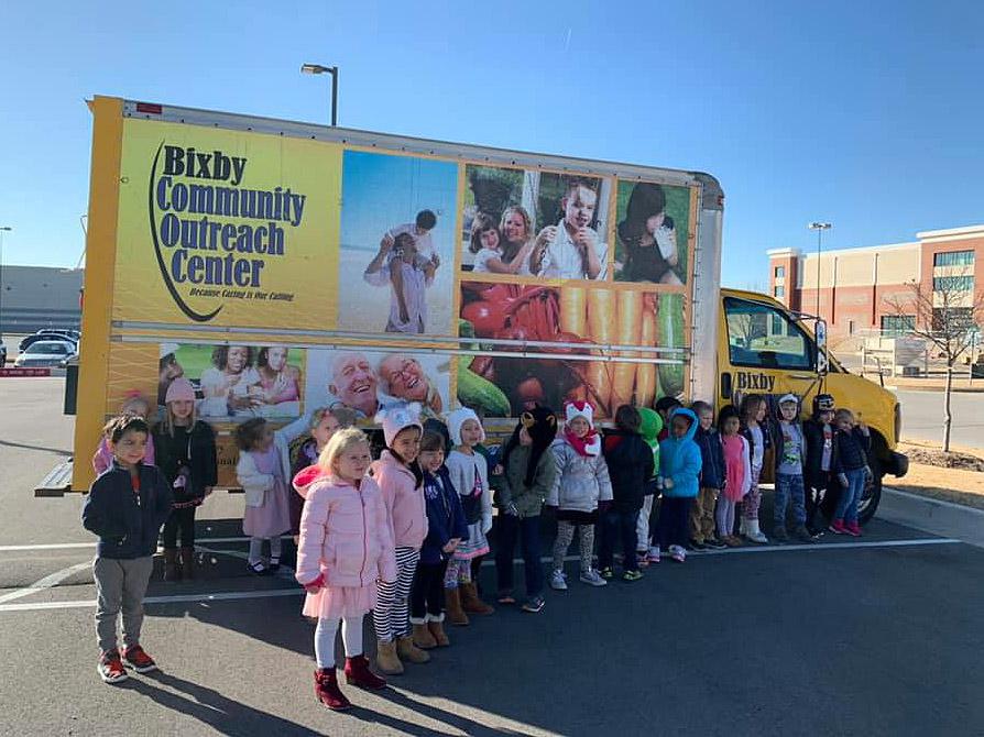 Primrose School donates food to BOC